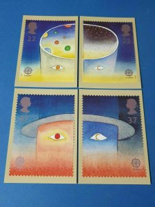 Set of 4 PHQ Stamp Postcard Set No.134 Europe in Space - Europa 1991 BR9