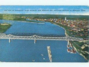 Linen RIVER SCENE Memphis Tennessee TN AE6334