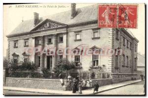 Postcard Old Saint Nazaire The Courthouse