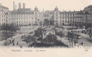 MUNCHEN, Bavaria, Germany, 1900-1910's; Karlsplatz, Das Rondel