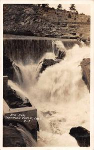 Thompson Canon Colorado Big Dam Real Photo Antique Postcard K73277