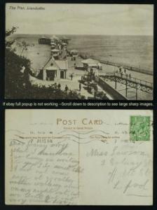 The pier Llandudno Wales postmarked 1914