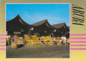 ARUBA, Well-known fruitmarket at the waterfront, PU-1993