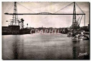 Postcard Old Port and Nantes Transporter Bridge