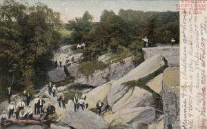 STARVED ROCK , Illinois, PU-1906; Bailey's Falls