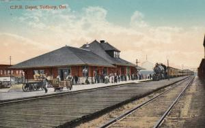 SUDBURY , Ontario, Canada, 00-10s ; C.P. Railroad Train Depot