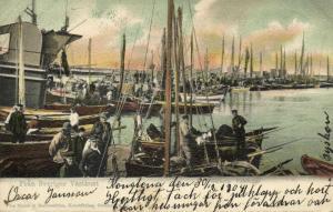 sweden, VARBERG WARBERG, Fiskflotten, Harbour Fishing Boats (1904) Stamps