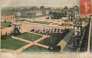Old Postcard Vue Generale Paris Louvre
