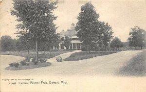 Detroit Michigan 1908 Postcard Casino Palmer Park Yale Michigan Cancel