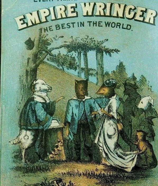 Empire Wringer Co. Anthropomorphic Foxes Sheep At Wedding Woods C3
