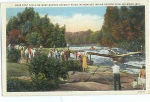 Bear Trap Falls, Shawano, Wisconsin, WI, 1941 Linen