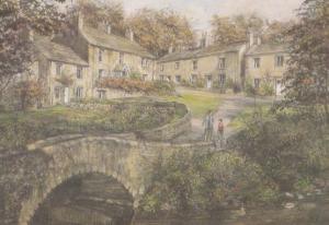 Mother & Child at Clapham Bridge Yorkshire Giant Painting Postcard