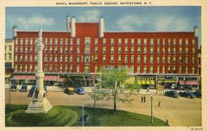 NY - Watertown. Hotel Woodruff, Public Square