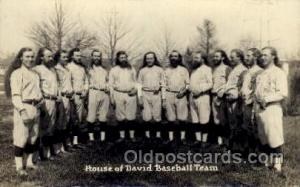 House of David Base Ball Team Base Ball Baseball Real Photo Postcards Post Ca...