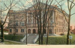 Richmond Virginia~Steps Up to State Library Building 1909 Postcard