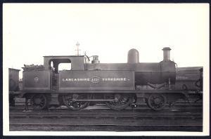 LANCASHIRE & YORKSHIRE Railroad Locomotive #1217 RPPC unused