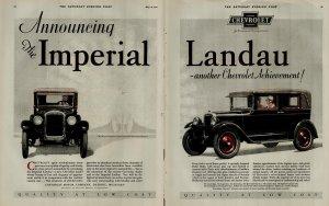 1927 Chevrolet Imperial Landau Another Chevy Achievement Vintage Print Ad 3938