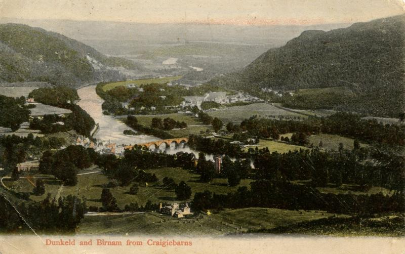 UK - Scotland. Dunkeld and Birnam from Craigiebarns