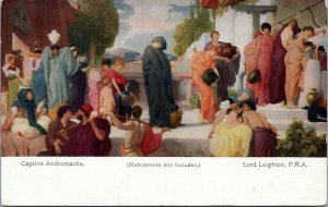 postcard - art - Captive Andromache by Lord Leighton