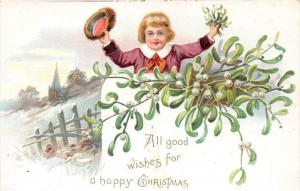 Christmas,  Boy waving hat ,  Tuck´s no.102