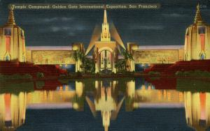 CA - San Francisco, 1939-40. Golden Gate International Exposition. The Temple...