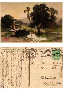 CPA Feierabend Meissner & Buch Litho Serie 1489 (730494)