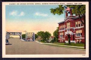 Highway and Bridges Entering Hornell,Washington School,Hornell,NY