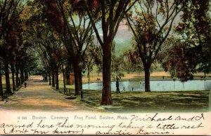 Massachusetts Boston The Common Frog Pond 1907 Rotograph