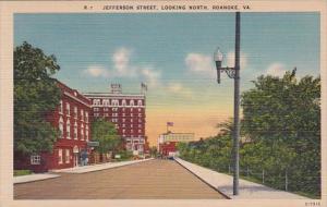 Virginia Roanoke Jefferson Street Looking North