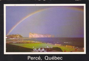 Canada Rainbow Over Perce Ouebec