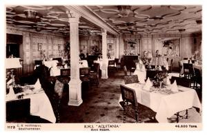 R.M.S. Aquitania ,  Cunard Line Grill Room  , RPC