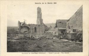 CPA Militaire (Dep.02.) Environs de Chateau-THIERRY Torcy The church (91674)