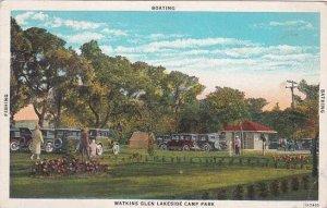 New York Watkins Glen Fishing Boating Bathing Watkins Glen Lakeside Camp Park...