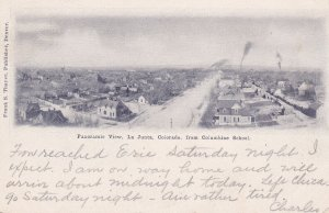 LA JUNTA , Colorado , PU-1907 ; View from Columbine School ,