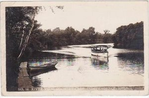 Iowa Independence Country Club River View 1911 Real Photo RPPC