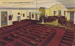 Old Saint Johns Church Interior Richmond Virginia 1945