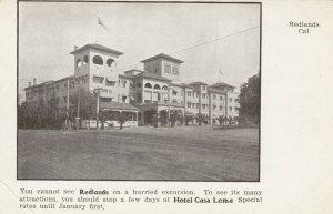 REDLANDS , Ca, 1901-07 ; Hotel Casa Loma
