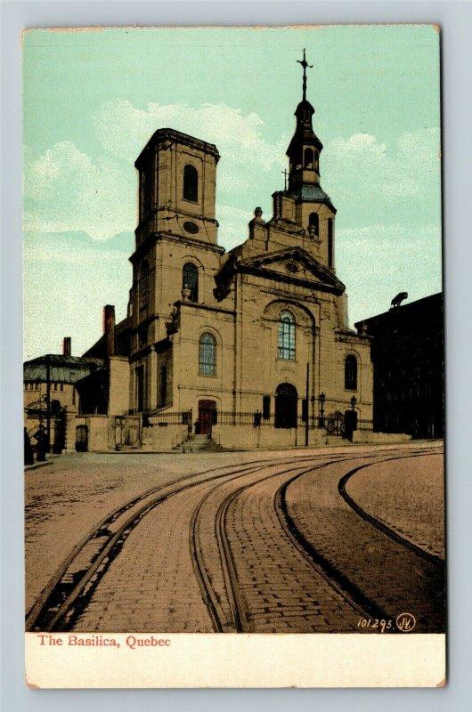 Quebec-Canada, The Basilica, Vintage Postcard