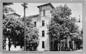 H72/ Lebanon Ohio Postcard c1940s Alfred Holbrook College Building  21