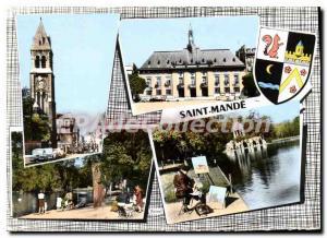 Postcard Modern Church Saint Mande The Mayor Lake Daumesnil Lake St. Mande