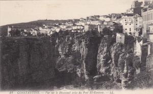 CONSTANTINE, Algeria, 1900-1910´s; Vue Sur Le Rhummel Prise Du Pont El Kantara