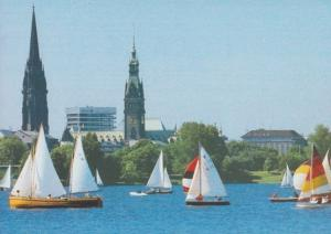 German Flying Junior Class Junoirklasse Sailing Postcard