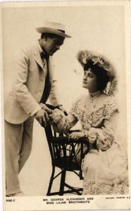CPA George Alexander and Lilian Braithwaite THEATER STARS (778125)