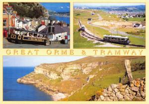 NEW Postcard, Llandudno Multi View, Great Orme and Tramway by Judges 48T