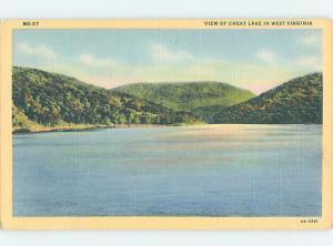 Unused Linen CHEAT LAKE Morgantown West Virginia WV F3558