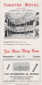 See How They Run Philip King Rare Theatre Royal Margate Kent Programme