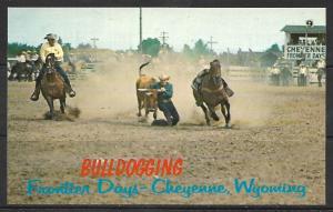 Wyoming, Cheyenne - Frontier Days - Bulldogging - [WY-016]