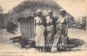 African Nude Postcard Dakar Senegal Femmes Laobes Unused