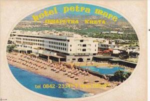 GREECE CRTE HOTEL PETRA MARE VINTAGE LUGGAGE LABEL