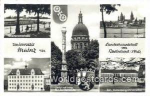 Mainz Germany, Deutschland Postcard Rheinpromenade  Rheinpromenade